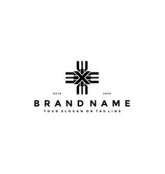 Letter x piano logo design vector