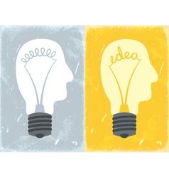 Lightbulb with idea vector image
