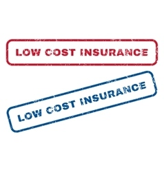 Low Cost Insurance Rubber Stamps vector
