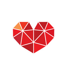 Low poly style heart love symbol vector