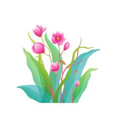 magnolia flowers fine art arrangement isolated vector image