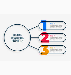marketing business infographic with three steps vector image
