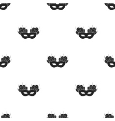 Mask icon in black style isolated on white vector image