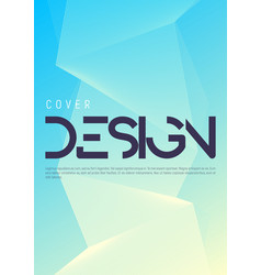 minimalist gradient geometric cover design vector image