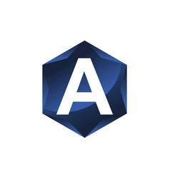 modern letter a vector image