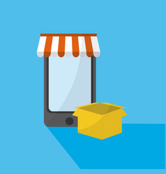 online shopping and marketing vector image