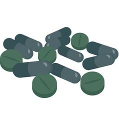 organic spirulina drugs chlorella spirulina vector image