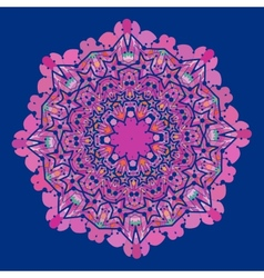 Ornamental colorful mandala of violet and pink vector image