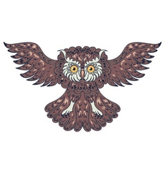 Ornamental Owl2 vector image