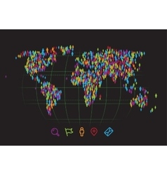 people map vector image