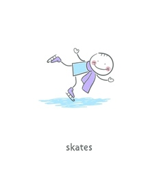 People skating on the ice vector
