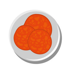 Pepperoni delicious ingredient vector