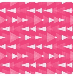 Pink and white ikat triangles stripes seamless vector