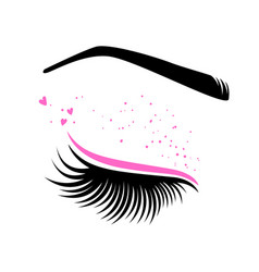 Pink makeup for valentines day vector