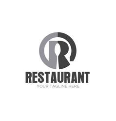 r restaurant logo designs icon vector image