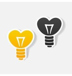 realistic design element lamp vector image
