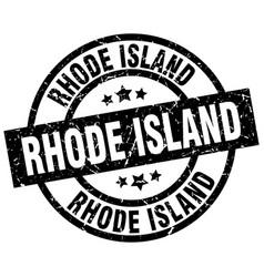 Rhode island black round grunge stamp vector