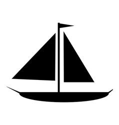 Sailing ship icon vector image
