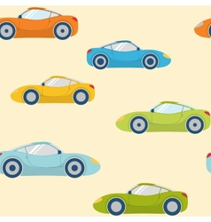 Seamless pattern with sports cars vector image