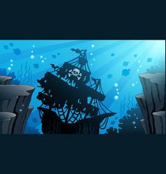 Shipwreck theme image 1 vector