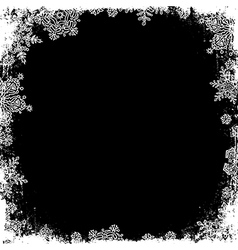 Snowflakes white frame silhouette Center area vector image