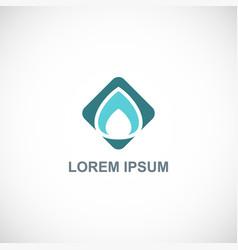 square water drop logo vector image