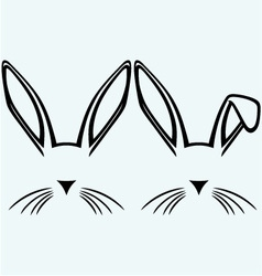 Symbol hare ears vector image