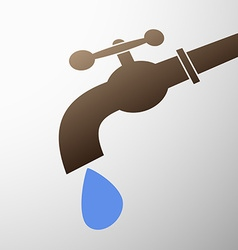 tap with a drop vector image