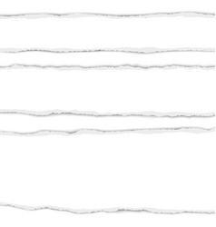 Three horizontal torn white paper stripes vector