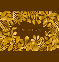 Traditional brown and gold autumn foliage pattern vector