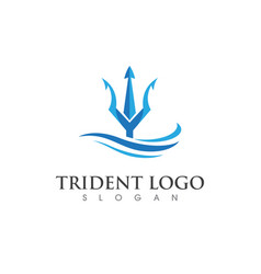 Trident logo template vector