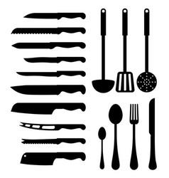 various kitchen instruments vector image