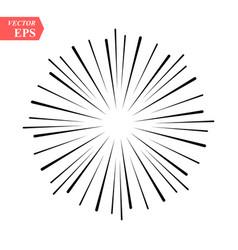 vintage sunburst explosion handdrawn design vector image