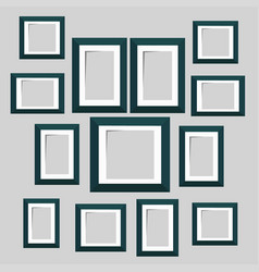 wall picture frame templates isolated on white vector image