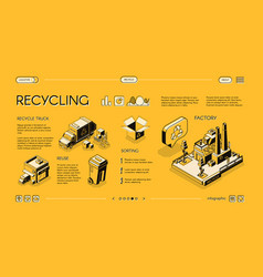 waste recycling process infographics slide vector image