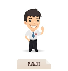 Waving Manager vector image vector image