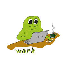 with working mr frog vector image