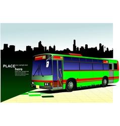 al 0542 city bus 03 vector image vector image