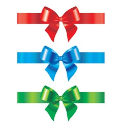 bow and ribbon set of design vector image