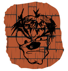 face graffiti on the wall vector image vector image