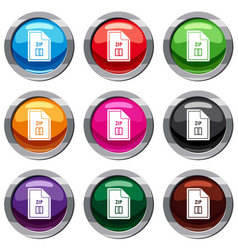 file zip set 9 collection vector image
