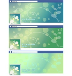 green nature abstract face book page cover banner vector image