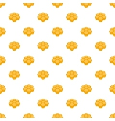Honeycomb pattern cartoon style vector image vector image