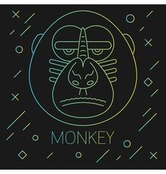 Monkey Lines Green vector image vector image