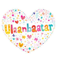ulaanbaatar mongolia capital city vector image