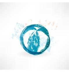 Ball grunge icon vector image