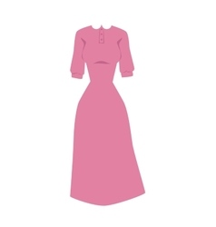 Bright pink hanger dress beauty and fashion women vector image