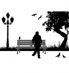 city park scene vector image vector image