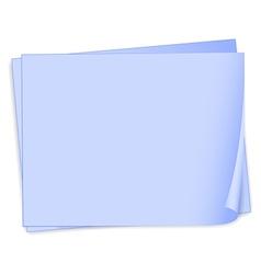 Empty bondpaper template vector image vector image