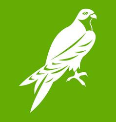 falcon icon green vector image